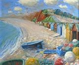 Budleigh Salterton Beach by Laura Boyd, Painting, Oil on canvas