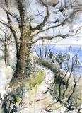 Coast Path Budleigh Salterton by Laura Boyd, Painting, Ink and Watercolour