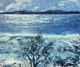 Exe Estuary in Winter by Laura Boyd, Painting, Oil on Board