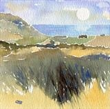 Jurassic  Coast from the commons by Laura Boyd, Painting, Watercolour on Paper