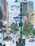 Park Avenue New York by Laura Boyd, Painting, Monotype & Acrylic