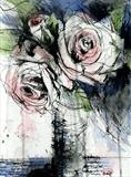 Romantic Roses 2 by Laura Boyd, Painting, ink and watercolour