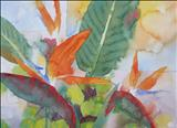 Strelitzia II by Laura Boyd, Painting, Watercolour
