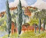 View Tuscany (Montepulciano) by Laura Boyd, Painting, Oil on canvas