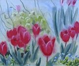garden tulips 2 by Laura Boyd, Painting, gouache and watercolour