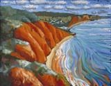 peak hill sidmouth by Laura Boyd, Painting, Oil on Board